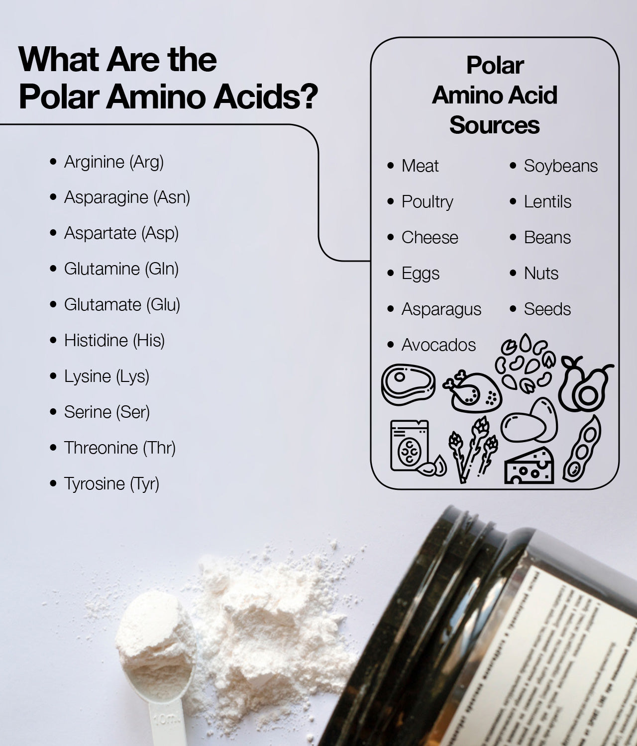 Polar amino acids for optimal health.
