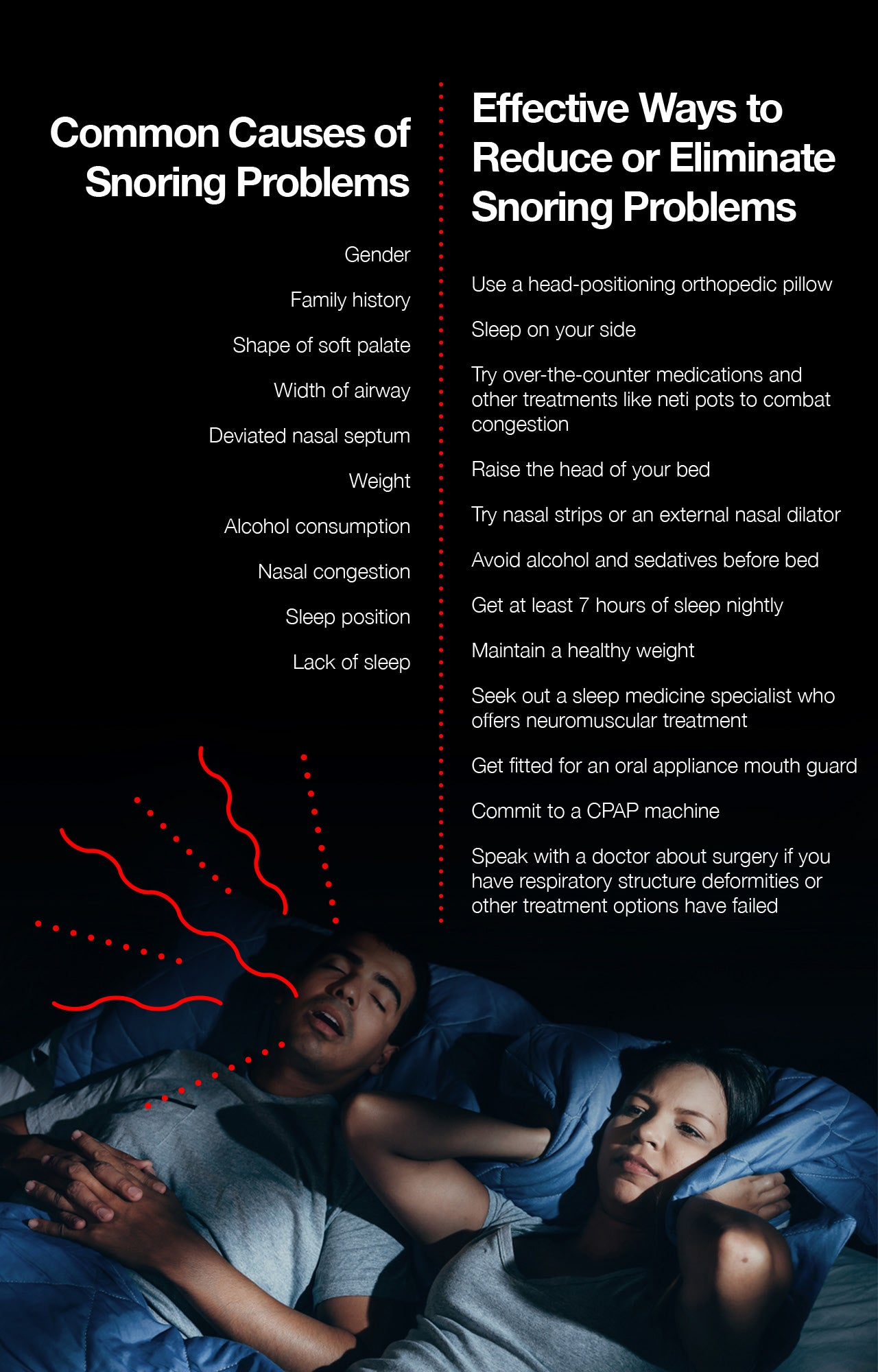 How to not snore as much