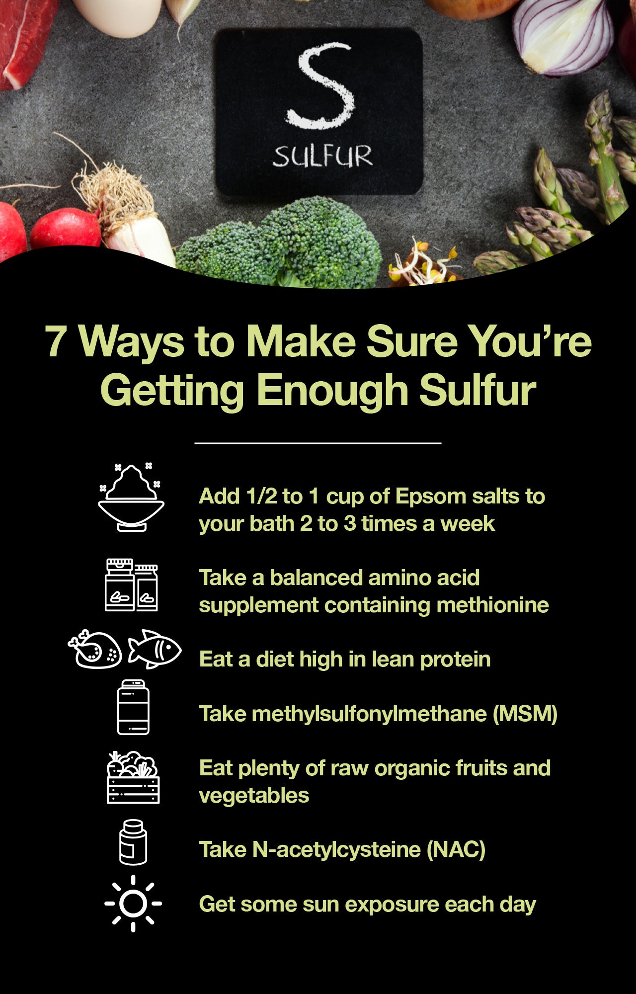 7 ways to make sure you're getting enough sulfur