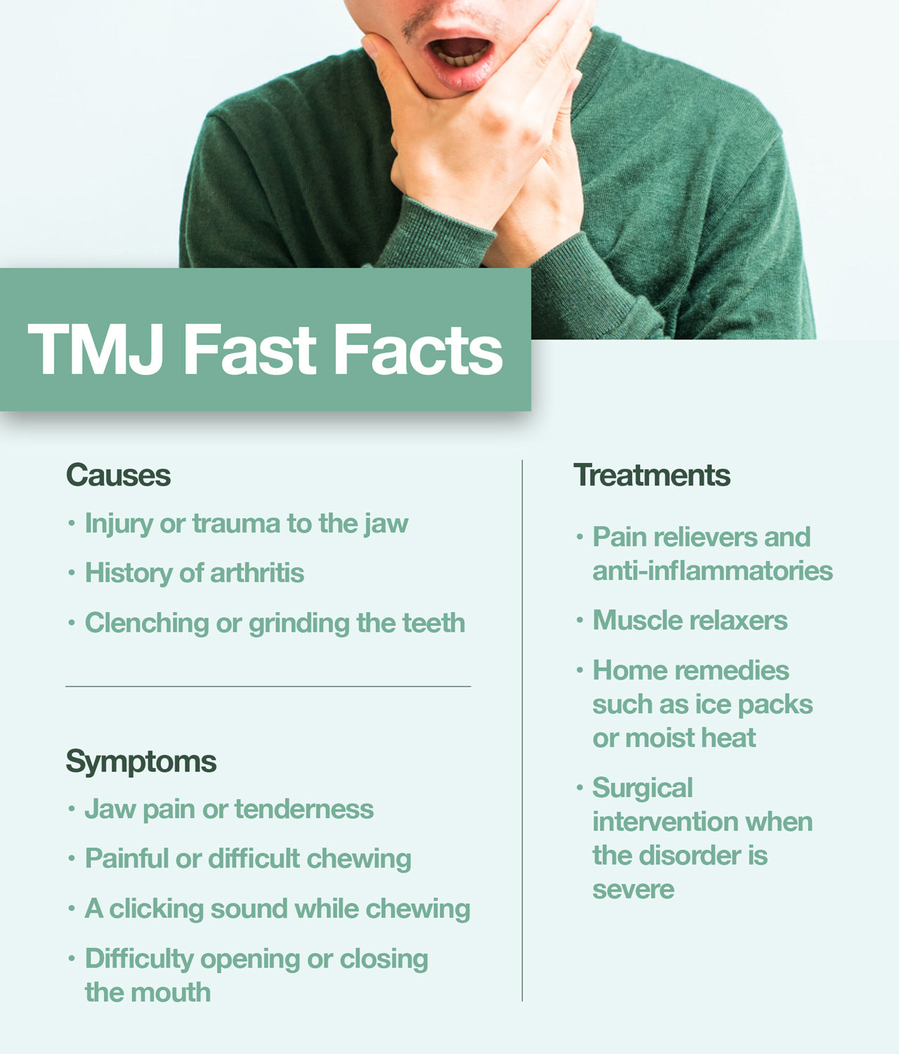 TMJ disorder is a pain in the jaw and the muscles that control jaw movement