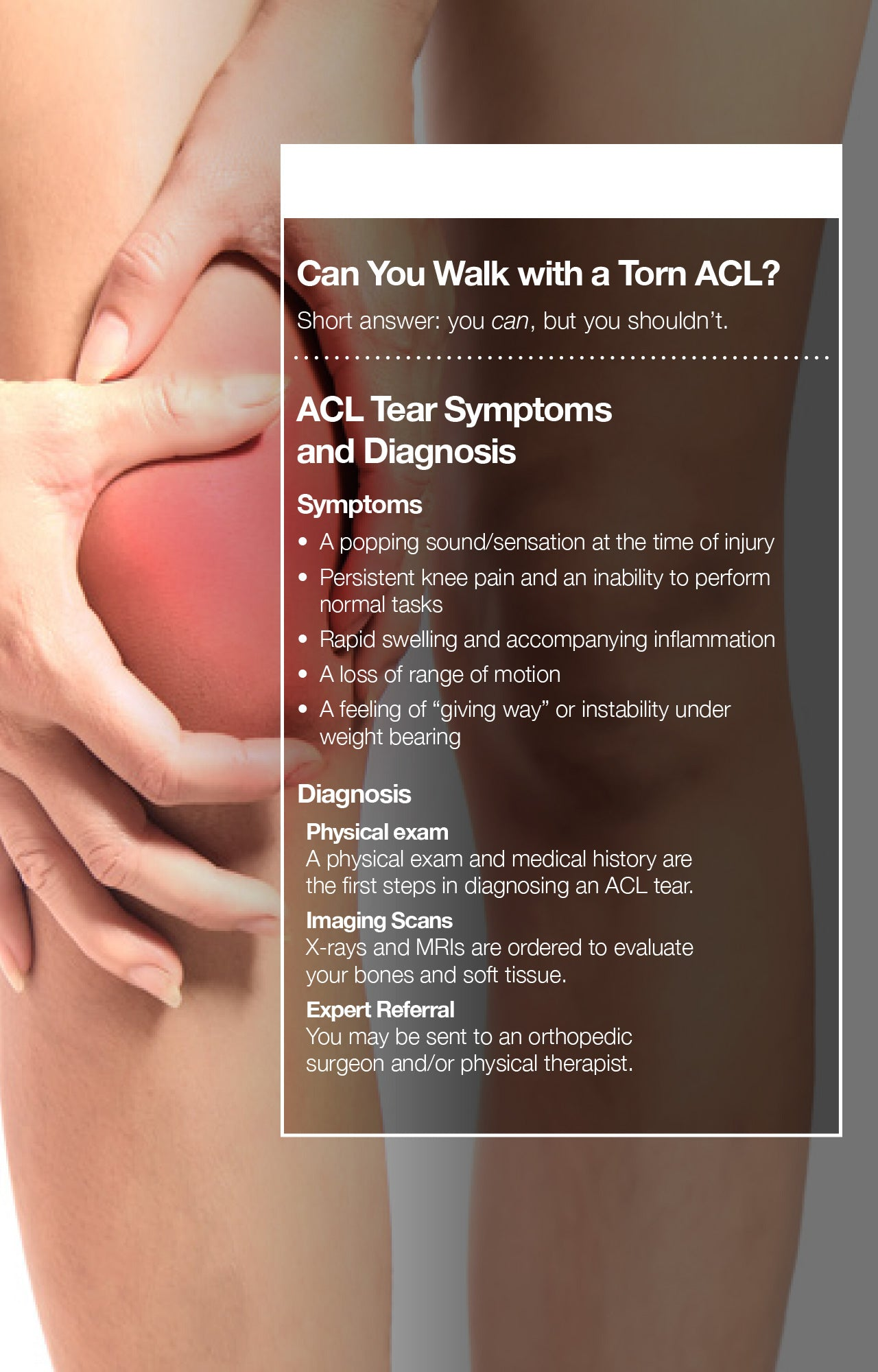 Can You Walk with a Torn ACL?