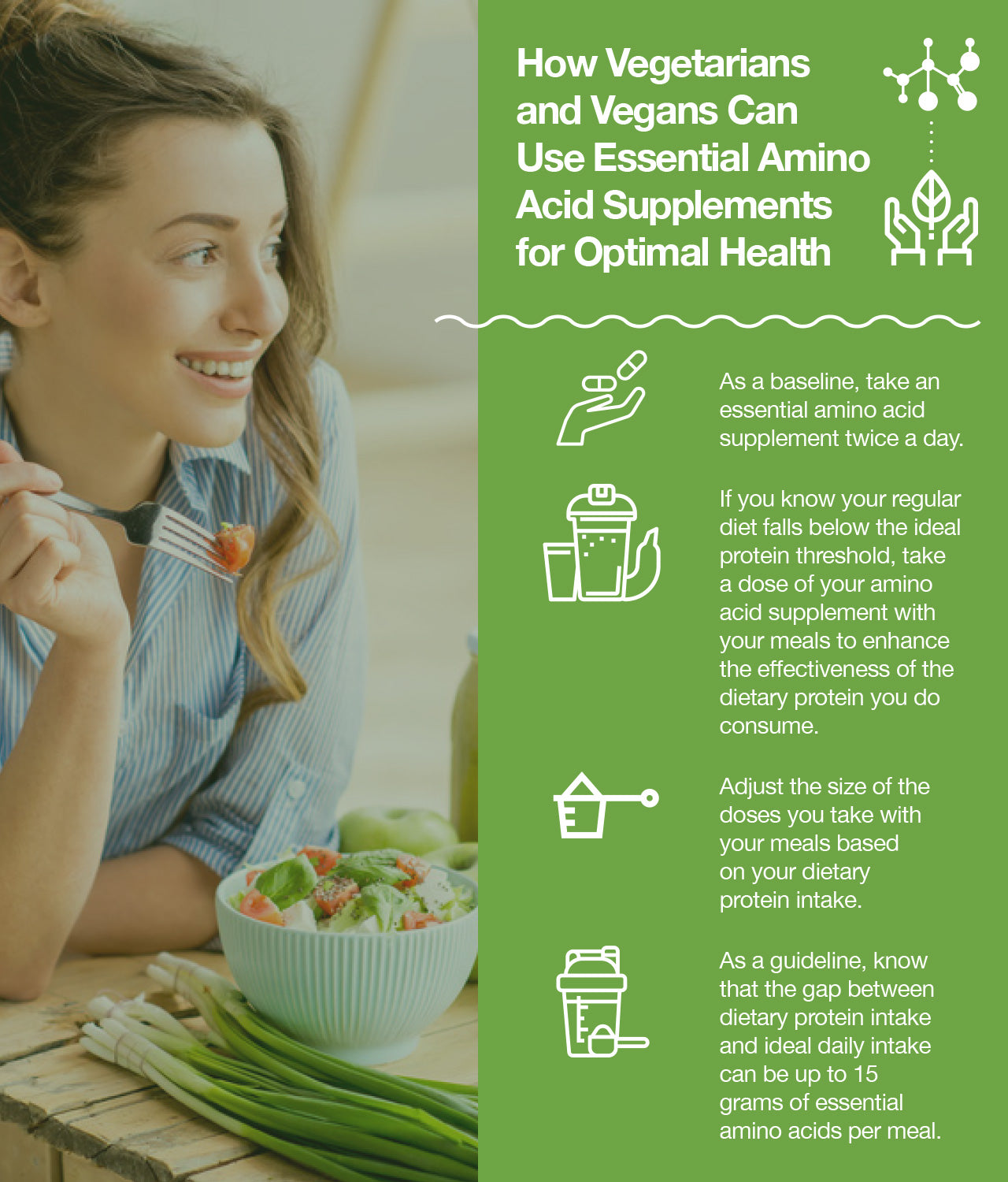 How Vegetarians and Vegans Can Use Essential Amino Acid Supplements for Optimal Health