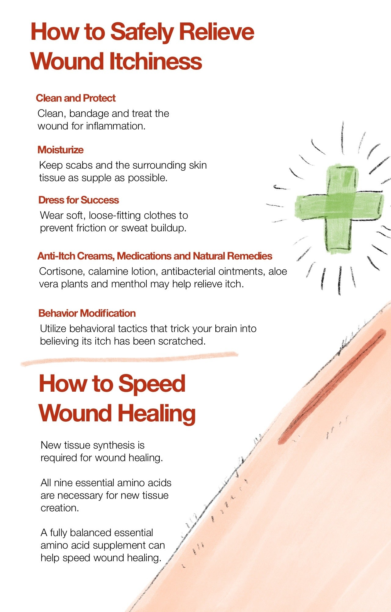 How to Safely Relieve Wound Itchiness
