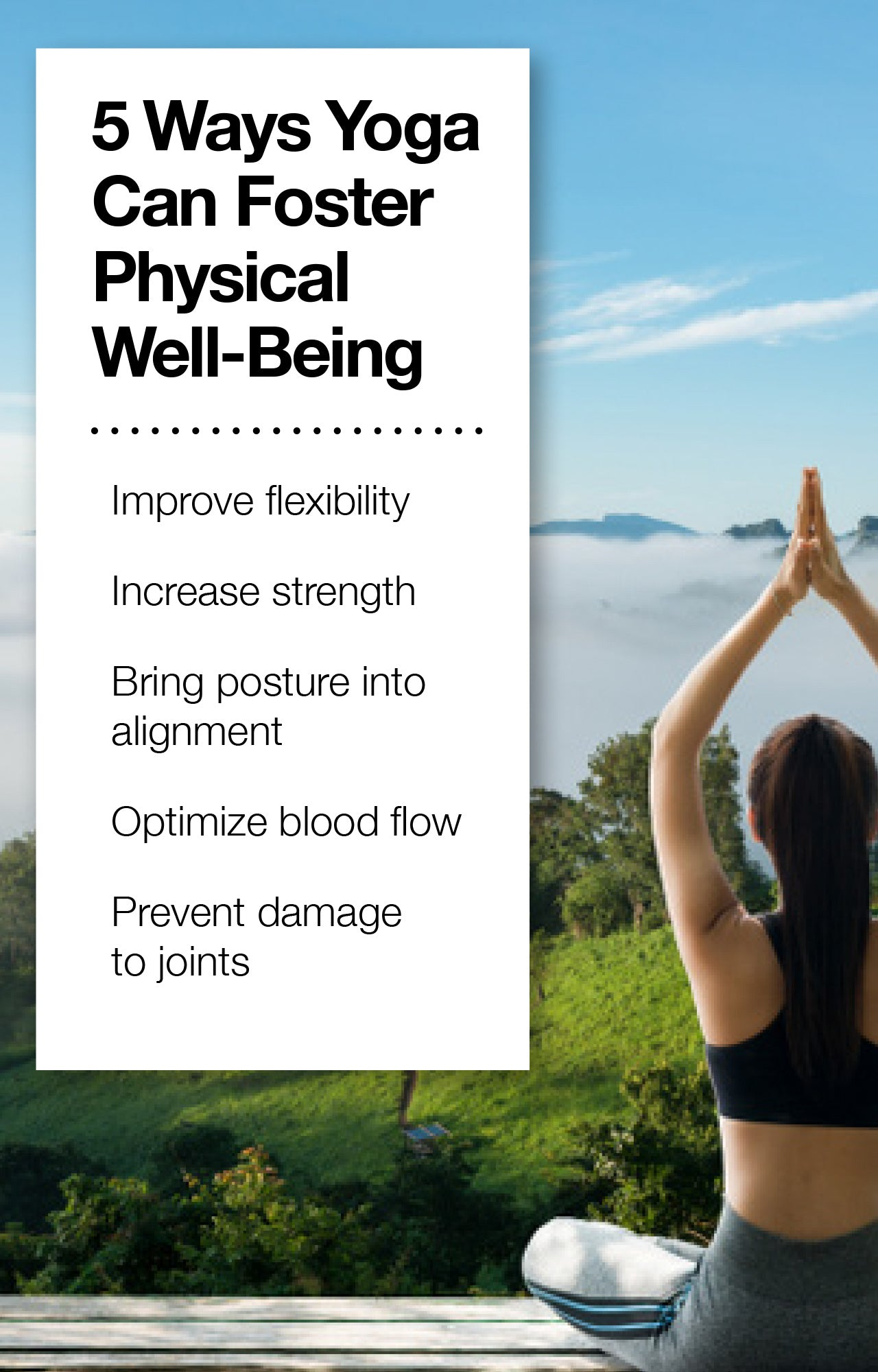 How yoga fosters physical well-being