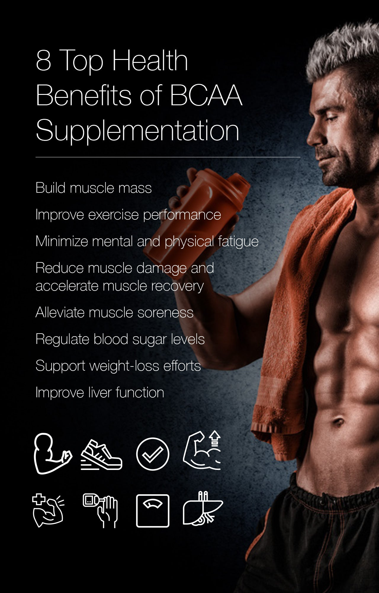 8 Top Health Benefits of BCAA Supplementation