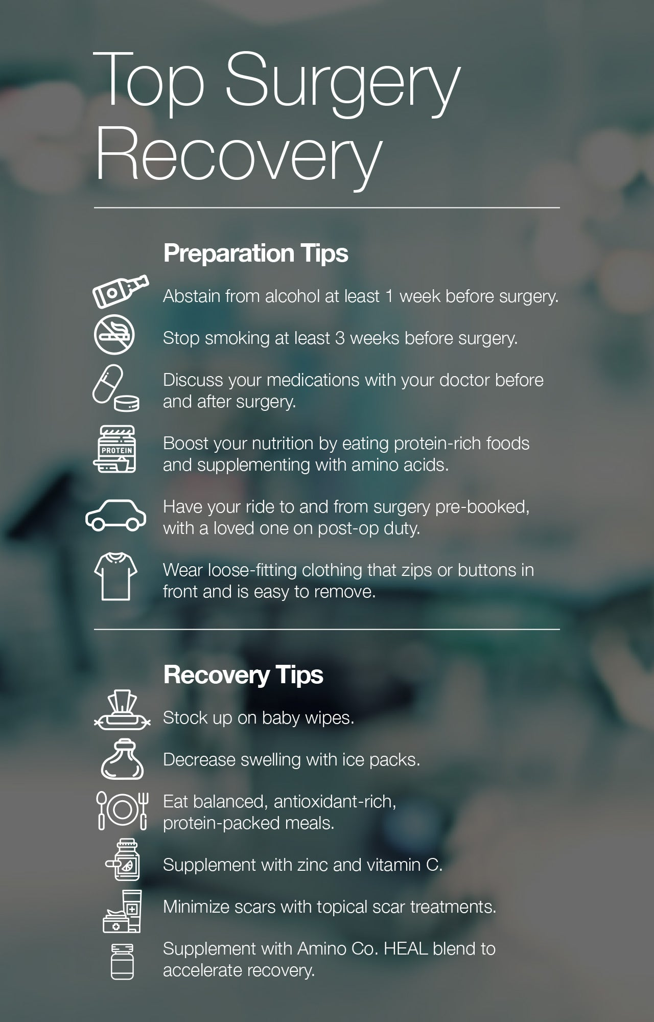 Top surgery recovery and preparation