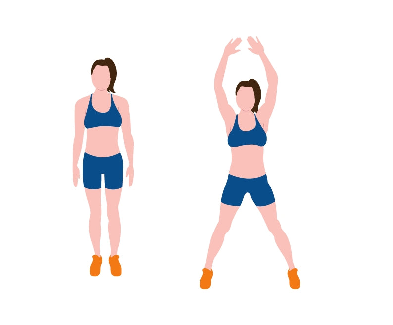 Dynamic Warm Up Jumping Jacks