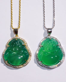 Authentic Green Jade Buddha Necklace