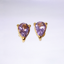 Pear Shaped Faceted Amethyst Earrings