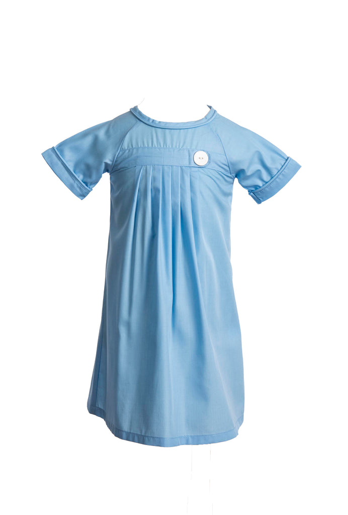 Pembrook Pleated Daygown - Cambridge Blue