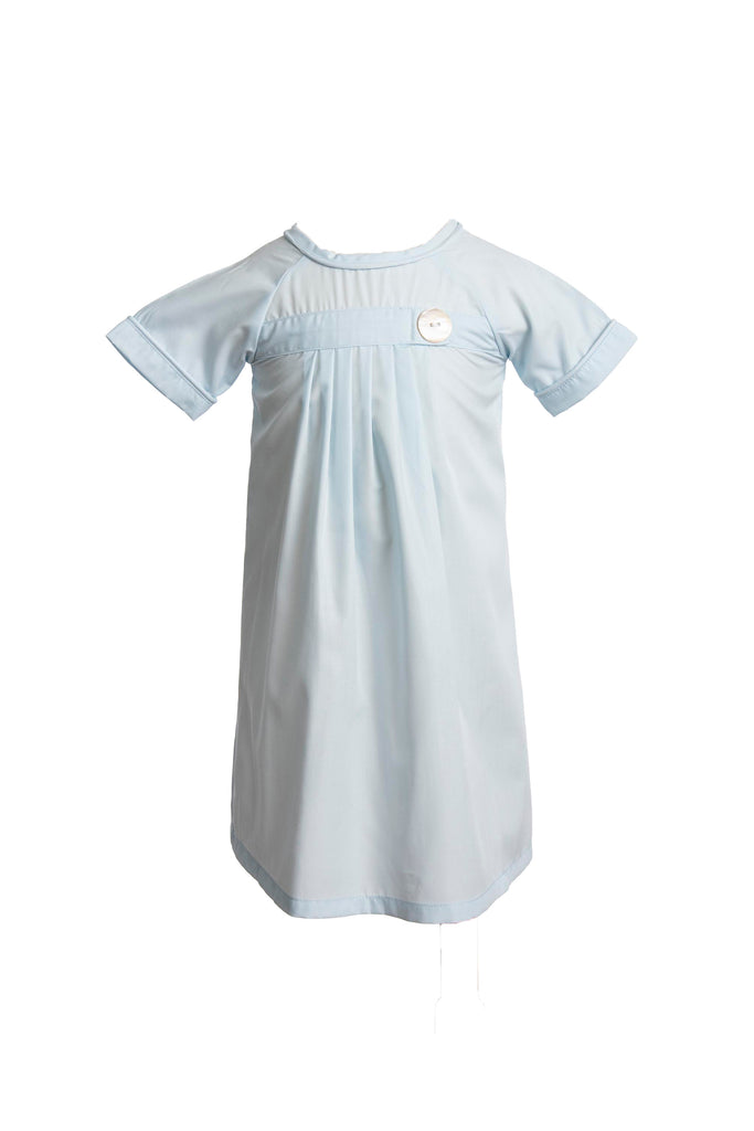 Pembrook Pleated Daygown - Sky Blue