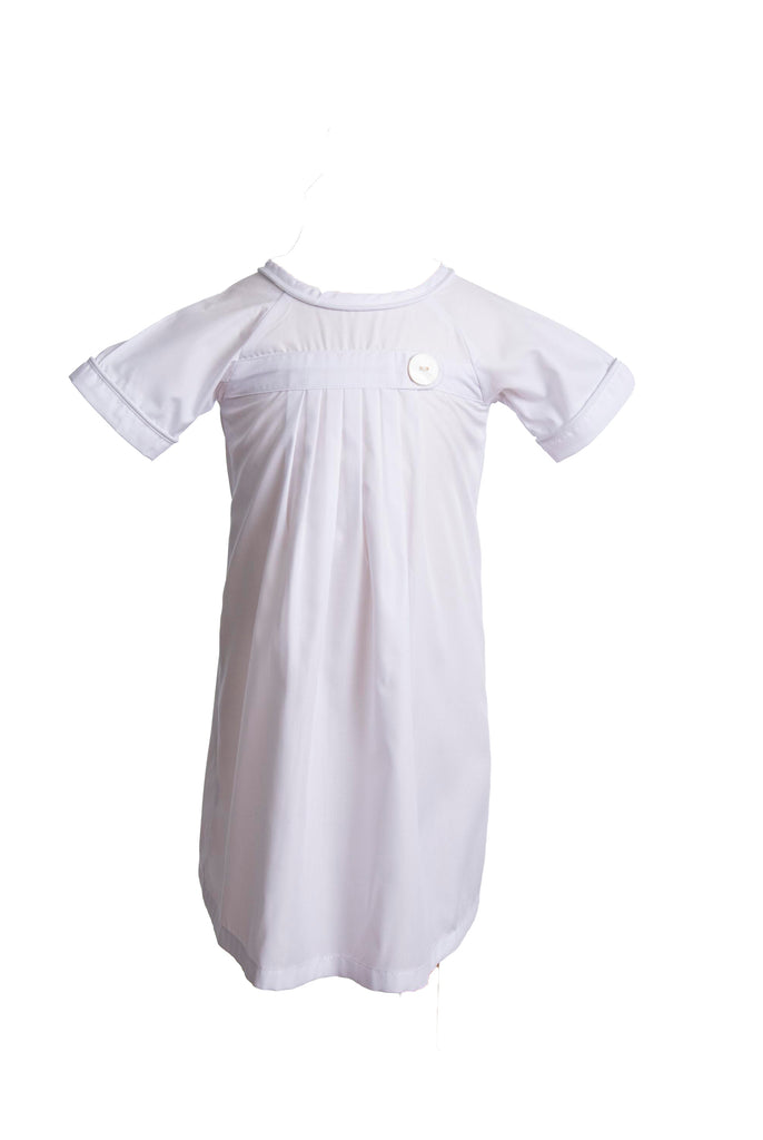 Pembrook Pleated Daygown - White