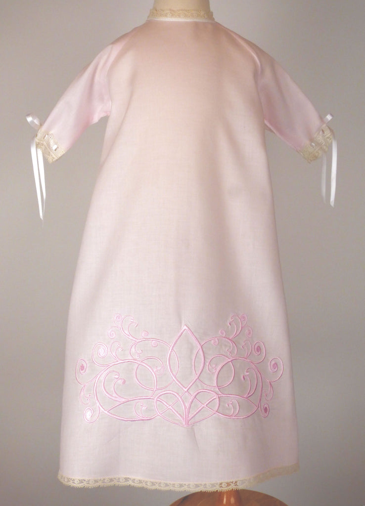 Louis Daygown - Pink with Pink Embroidery