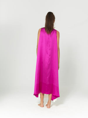 SILK DOUBLE FABRIC 'LENA' DRESS