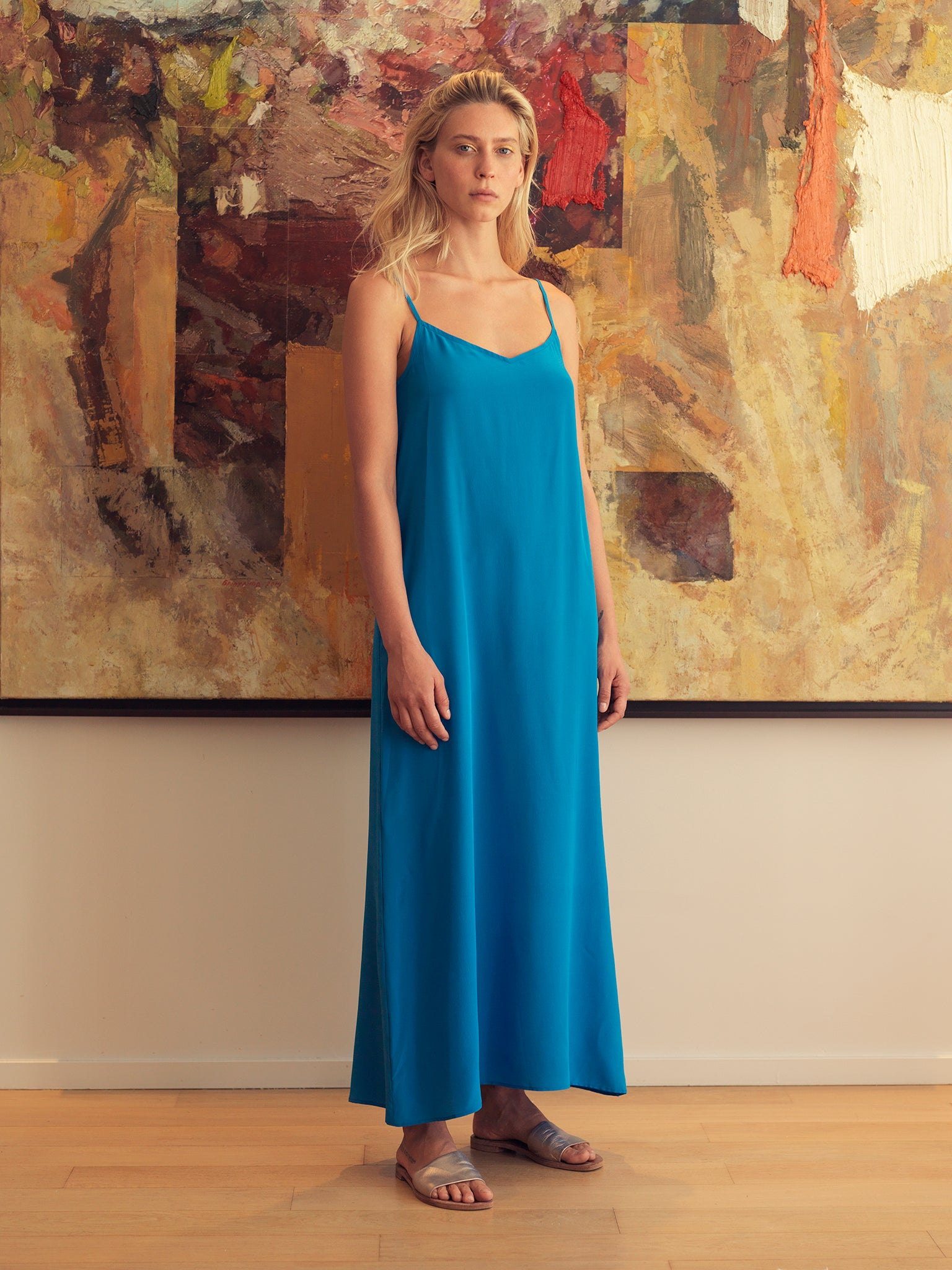 SILK SLIPON DRESS