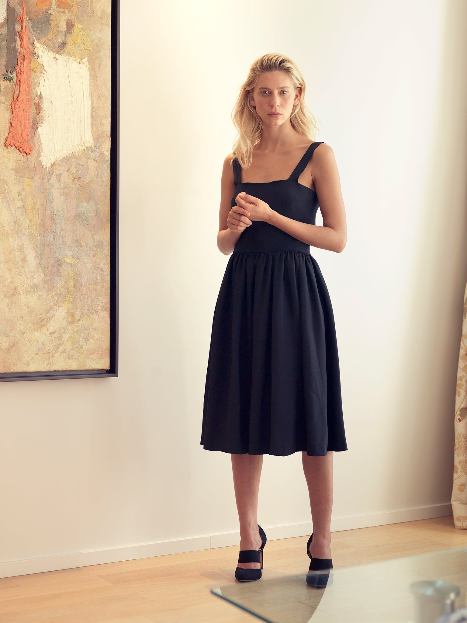SILK DRESS BLACK