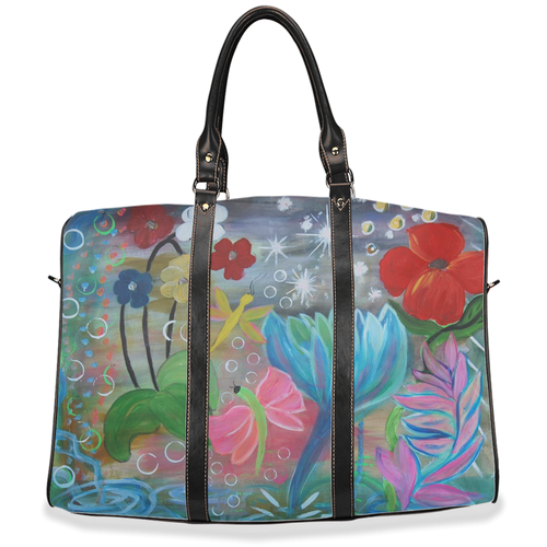 Fantasy garden floral Travel Bags from my art. - Maremade Designs