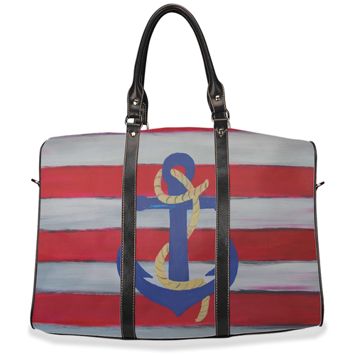 Nautical anchor boating Travel Bags from my art.