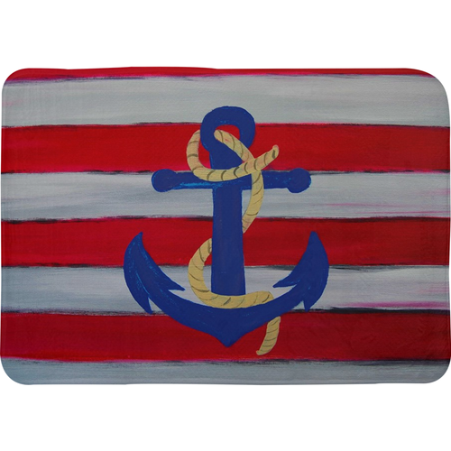 Nautical anchor design Bath Mats from my art.