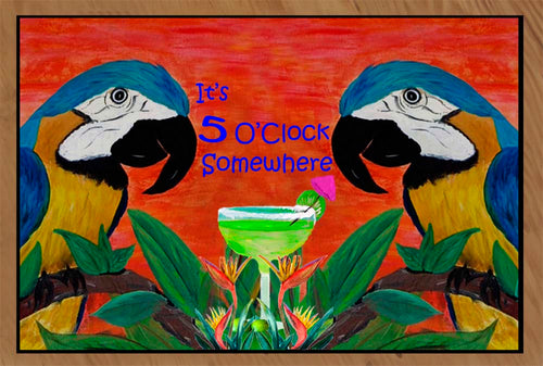 Parrot head It's 5 O'Clock Somewhere - Maremade Designs