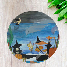 Load image into Gallery viewer, Halloween mermaid witch under the sea kitchen decor