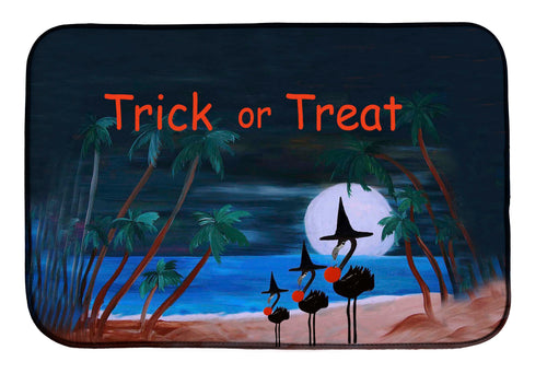 Halloween trick or treat flamingo witch - Maremade Designs