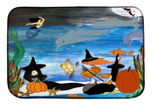 Halloween mermaid witch under the sea kitchen decor - Maremade Designs