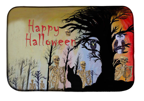 Halloween cats, skeleton and spooky tree kitchen decor - Maremade Designs
