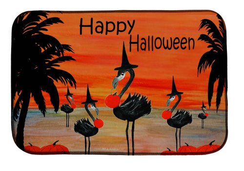 Flamingo witch in sunset kitchen decor - Maremade Designs
