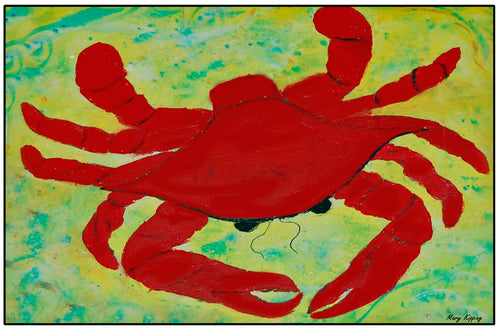 Red crab floor mat - Maremade Designs