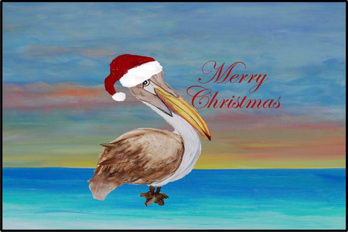 Santa pelican beach Happy Holidays - Maremade Designs