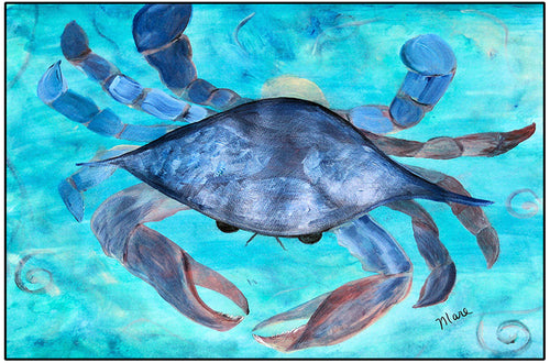 Blue crab floor mat - Maremade Designs