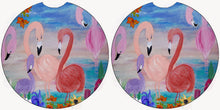 Load image into Gallery viewer, Flamingo garden car mats and coasters - Maremade Designs