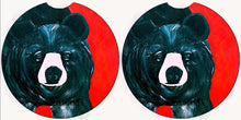 Load image into Gallery viewer, Black bear car mats and coasters - Maremade Designs