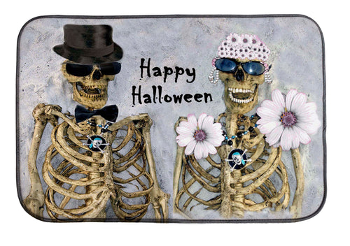 Mr and Ms Skully Happy Halloween kitchen decor - Maremade Designs