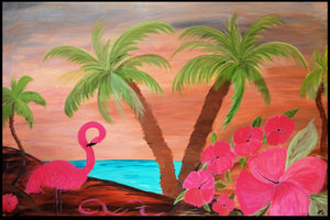 Flamingo in paradise - Maremade Designs