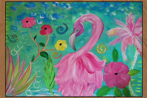 Flamingo fantasy garden - Maremade Designs