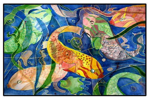 Tropical fish floor mat - Maremade Designs