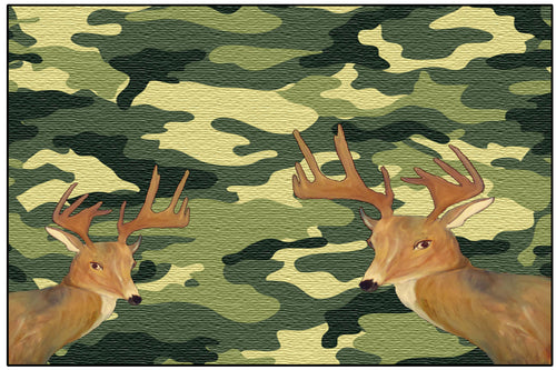 Deer on cameo floor mat - Maremade Designs