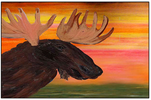 Moose wild life home door floor mat - Maremade Designs