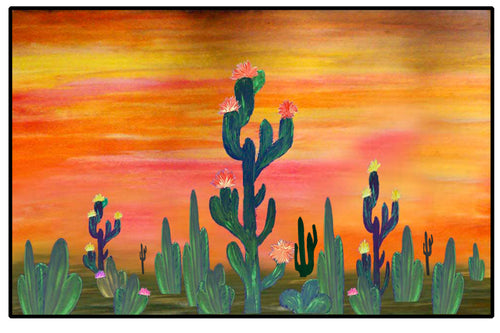 Cactus flowers sunset - Maremade Designs