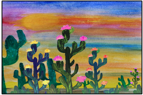 Cactus flowers Indian sunset - Maremade Designs