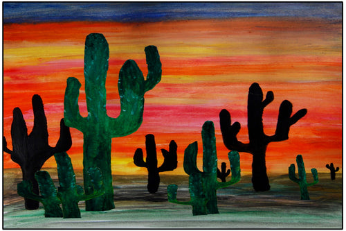 Desert cactus sunset - Maremade Designs