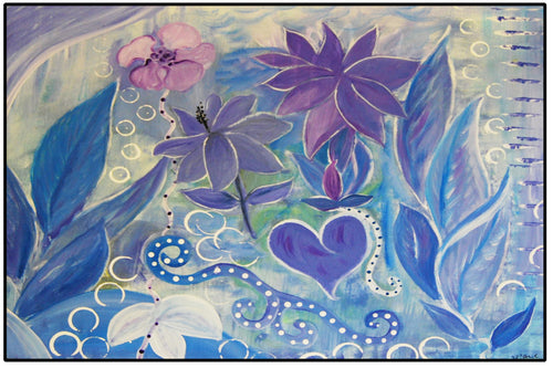 Blue and purple fantasy garden - Maremade Designs