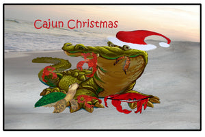 Cajun Christmas trim a tree Happy Holidays - Maremade Designs