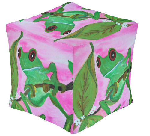 Frog garden ottoman or foot stool - Maremade Designs