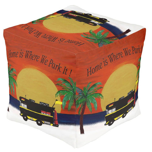 RV motor home camper in the giant sunset beach ottoman or foot stool