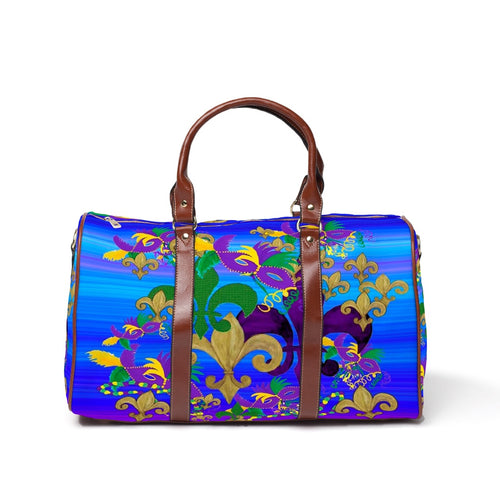 Fleur de lis Mardi Gras Travel Bags from my art. - Maremade Designs