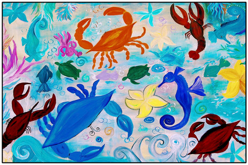 Sea creatures floor mat - Maremade Designs
