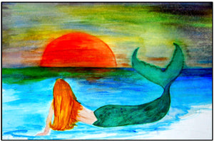 Sunset mermaid - Maremade Designs